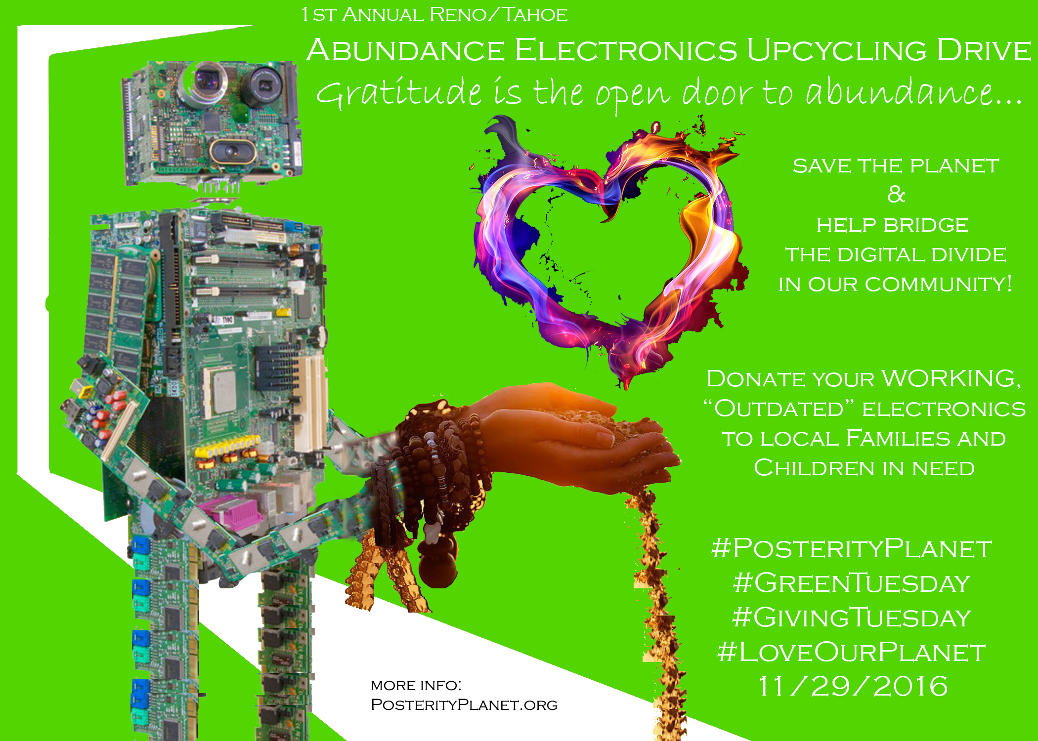 Abundance Electronics Upcycling Event Reno 2016